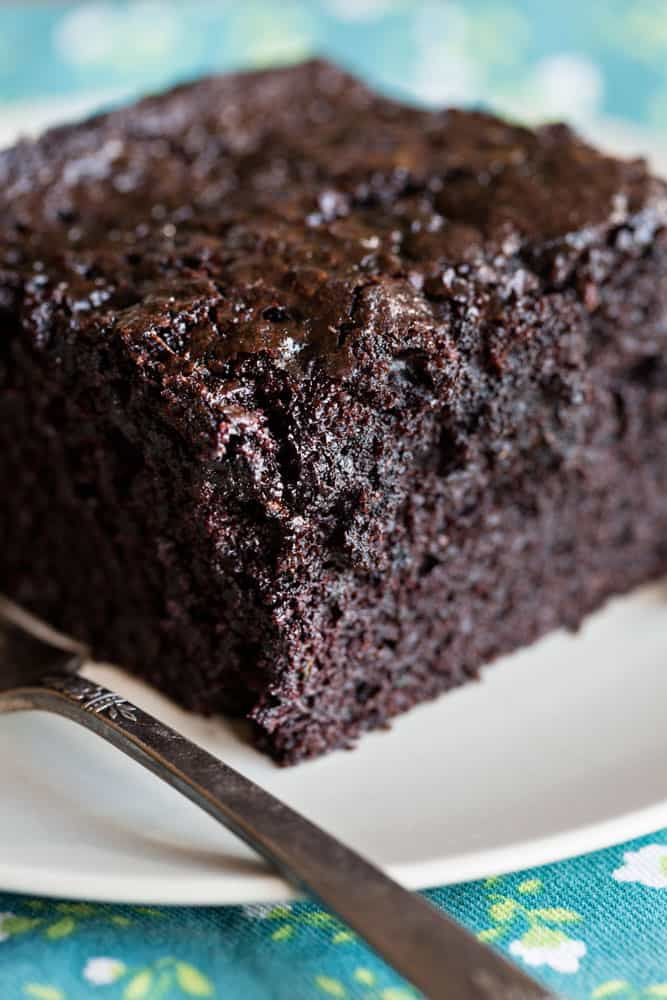 This cake is SO rich and decadent you will never know there is zucchini in it!