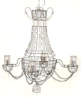 lustre opaline chandelier for dior paris wire art wire art wire chandelier et wire crafts. Black Bedroom Furniture Sets. Home Design Ideas