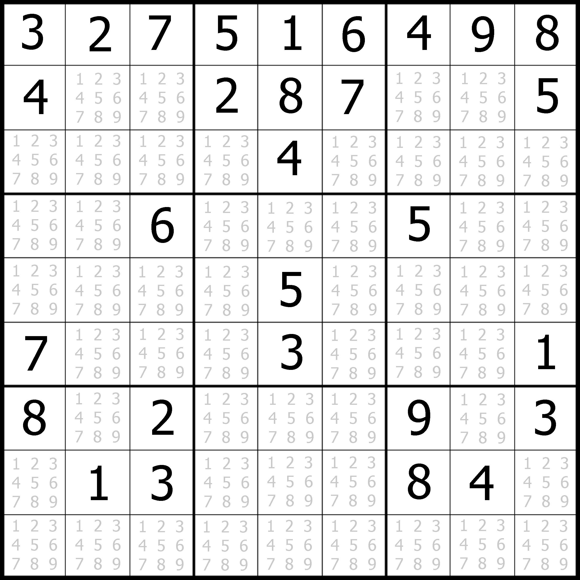 photograph about Medium Sudoku Printable titled sudoku printable no cost, medium, printable sudoku puzzle #1