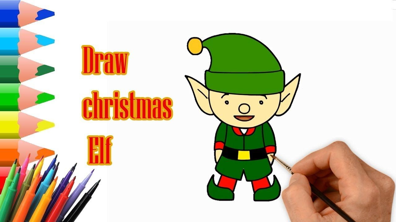 quick draw how to draw a christmas elf easy step by step drawing tut - How To Draw A Christmas Elf