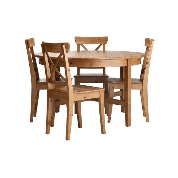 IKEA Leksvik/ Ingolf | Extendable glass dining table ...