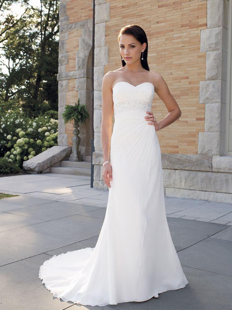 Elegant white sheathcolumn sweetheart neckline wedding dressus