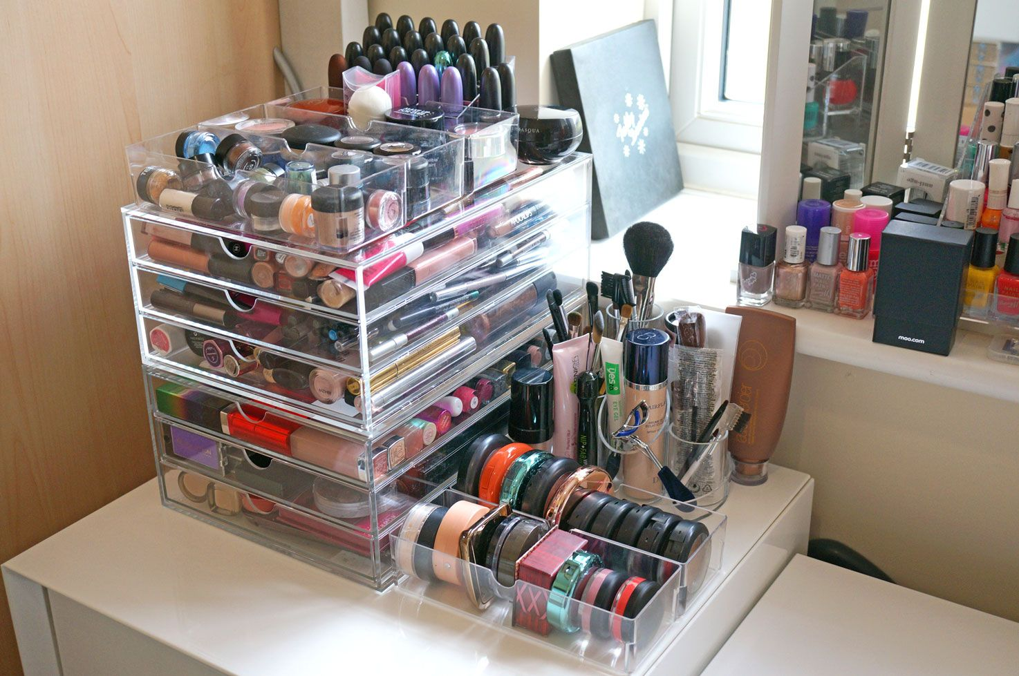 Wonderful Brilliant New Massive Acrylic Makeup Storage Review Thou Shalt Not Covet  With Storage For Make Up