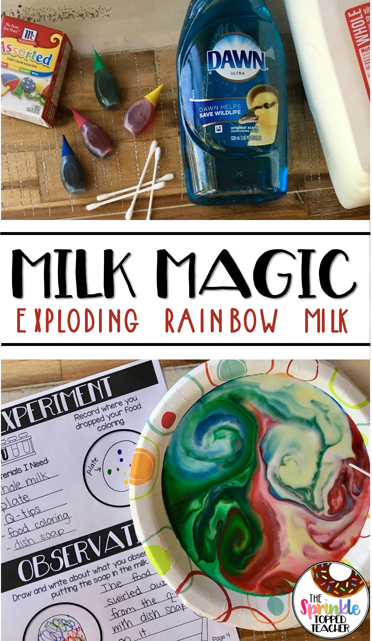 Milk Magic Color Explosion Experiment With The Scientific