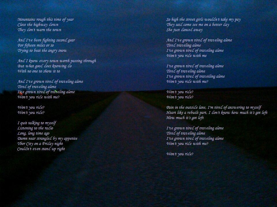 Traveling Alone Jason Isbell Lyrics