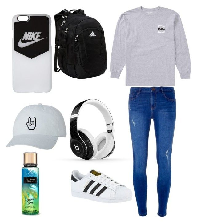 """Untitled #43"" by saraiwilliams-sock on Polyvore featuring Billabong, Dorothy Perkins, adidas, Beats by Dr. Dre and NIKE"