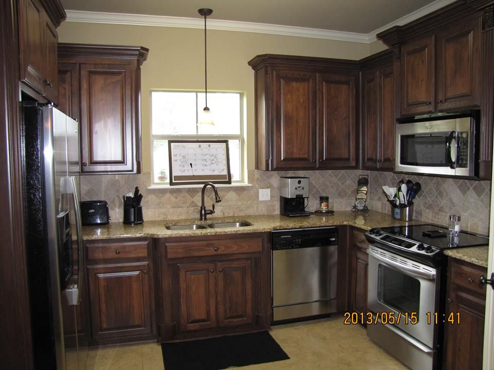 Alder Kitchen Dark Stained Cabinets And Stained Kitchen Cabinets