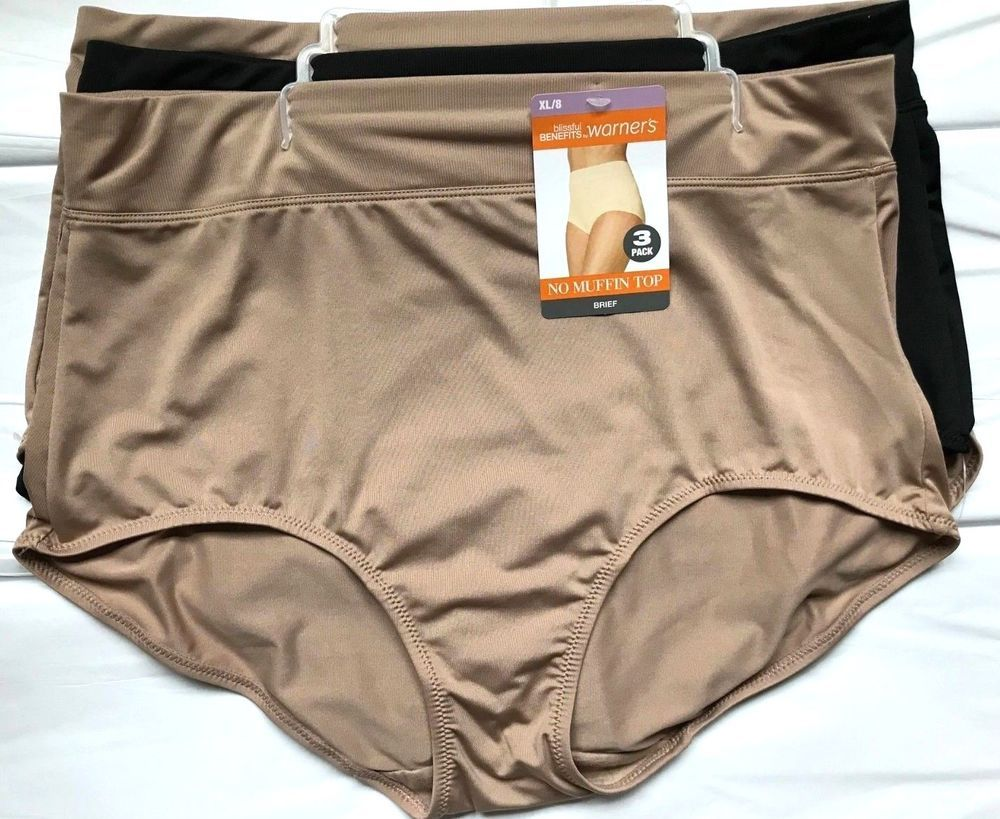 ccc40d260ba8 WARNER'S MICROFIBER BRIEF NO MUFFIN TOP PANTIES SIZE XL 8 Multi NWT #Warners  #Briefs #Everyday
