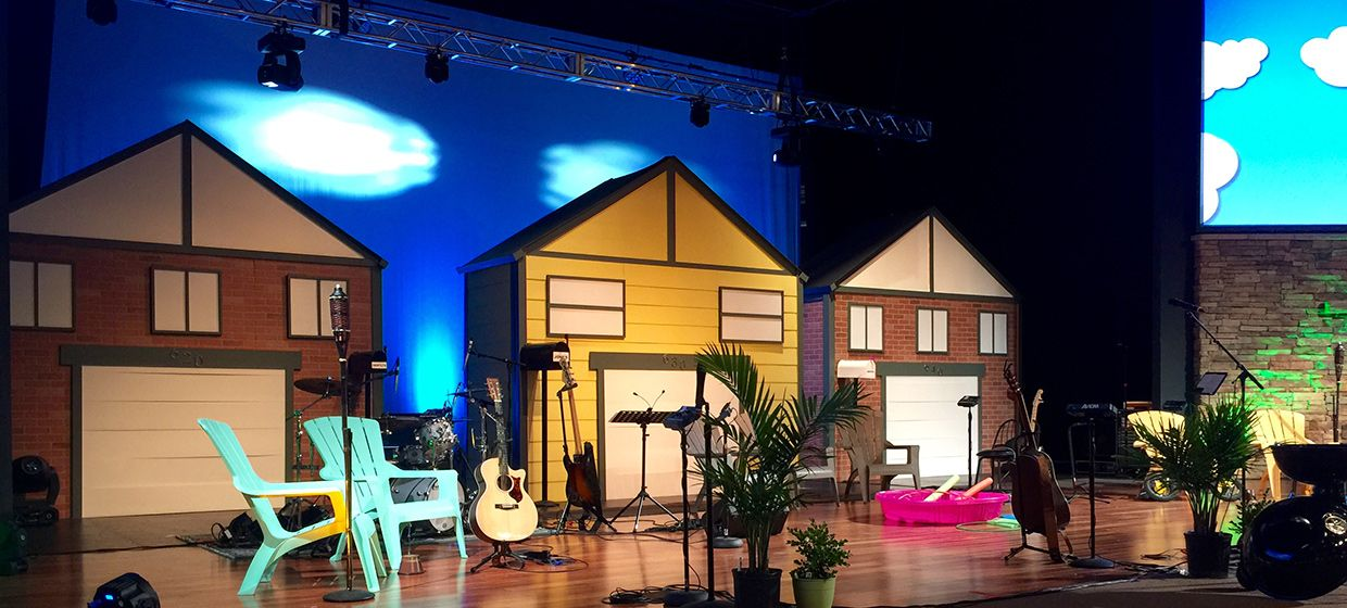 Won't You Be My Neighbor Stage Design from Mission Hills in Littleton, Co   Church Stage Design Ideas
