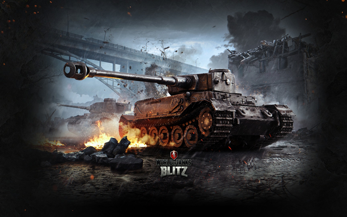 Download Wallpapers World Of Tanks Blitz WoT Tiger 1 Online Game German Tank War II