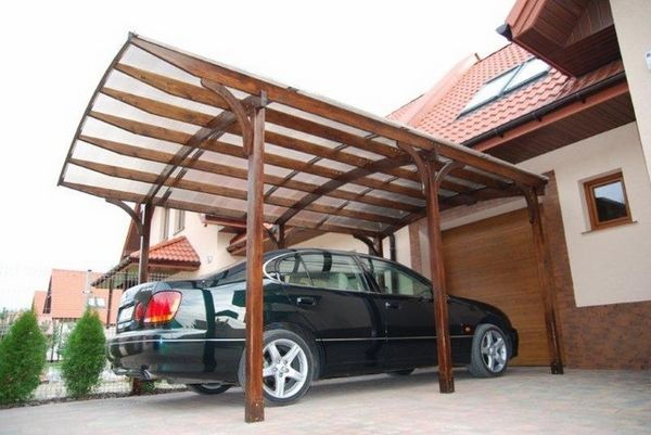 Modern Garage And Shed Ideas Car Parking Wooden Carport Wood Beams