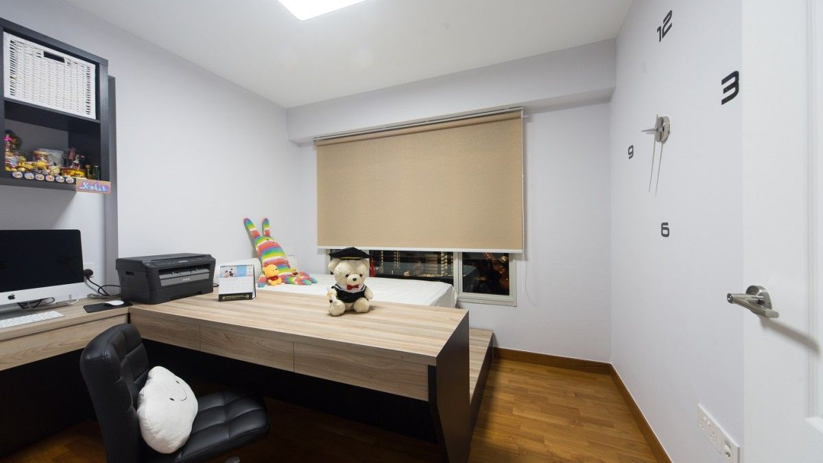 bedroom of 3 room hdb bto flat at blk 665c punggol drive