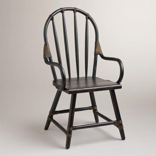 Black Winthrop Rattan Chair | World Market | Dining room ...