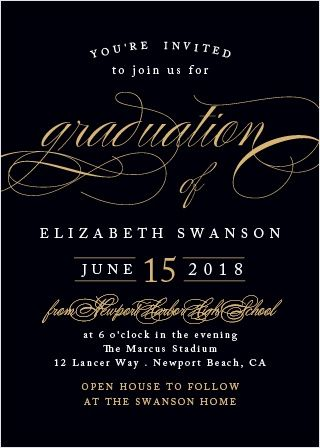 Our sophisticated swash graduation invitations offer a gorgeous our sophisticated swash graduation invitations offer a gorgeous combination of classic elegance and modern sophistication for your big day pinterest stopboris Gallery