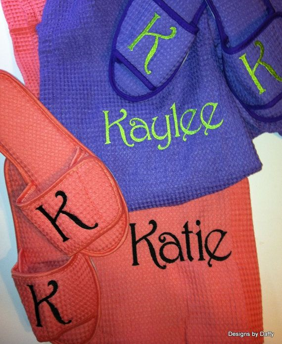 Personalized Cotton Waffle Weave Spa Wrap and by DesignsbyDaffy, set of 4 $114.95