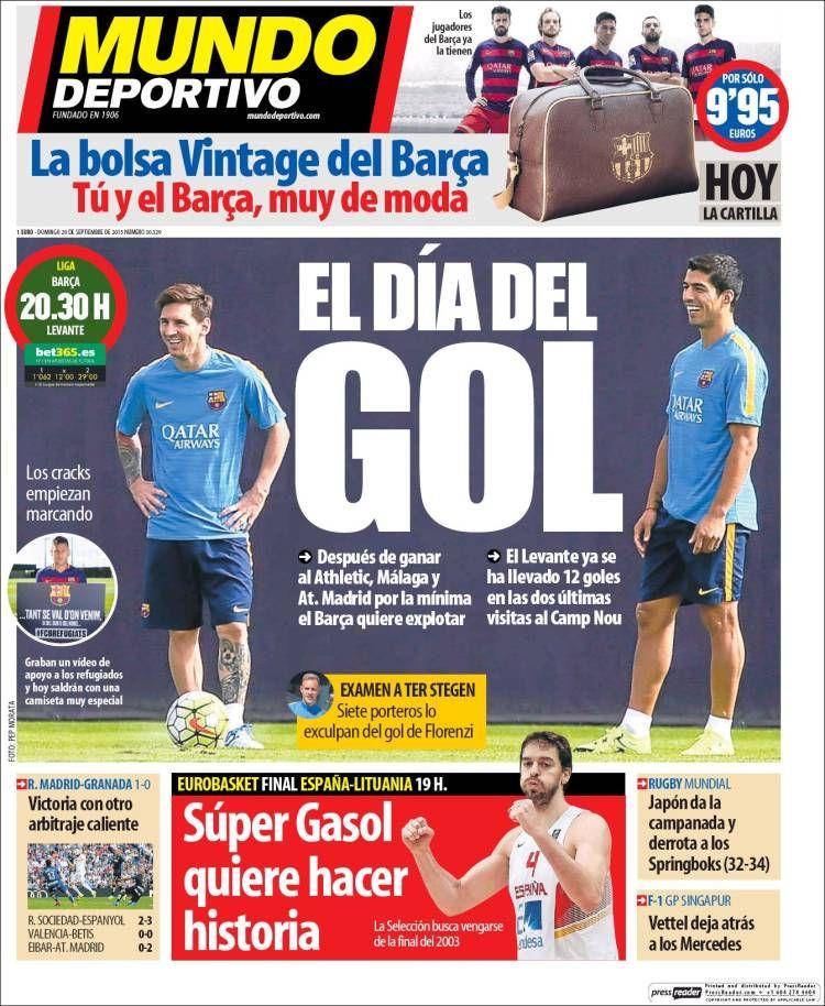 Gasol y Messi, los más grandes, hoy final del Eurobasket