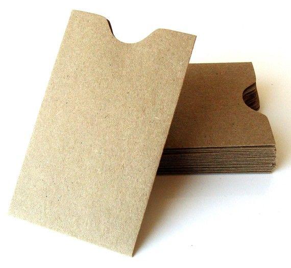 20 Mini Natural Kraft Card Sleeves Brown Bag Sleeve Etsy Card Sleeve Valentines Printables Free Diy Valentines Gifts