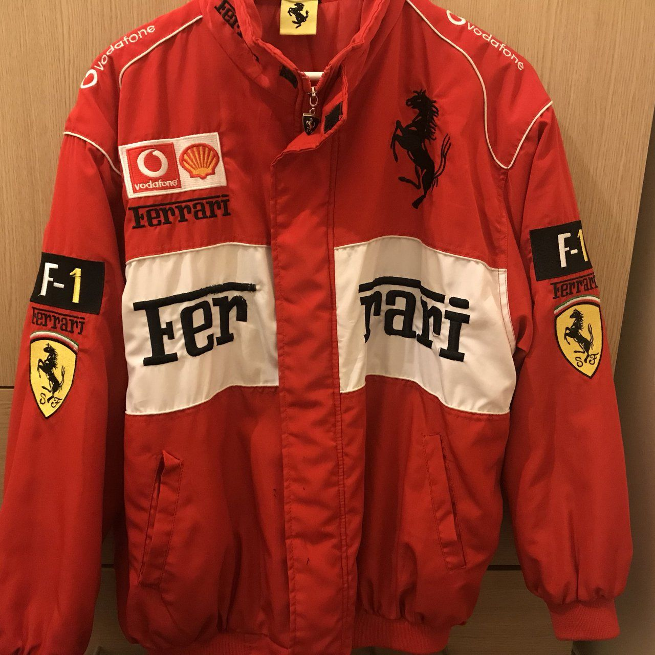 76a9b62fcf Vintage Red Ferrari Jacket As seen on Lana Del Rey for live - Depop