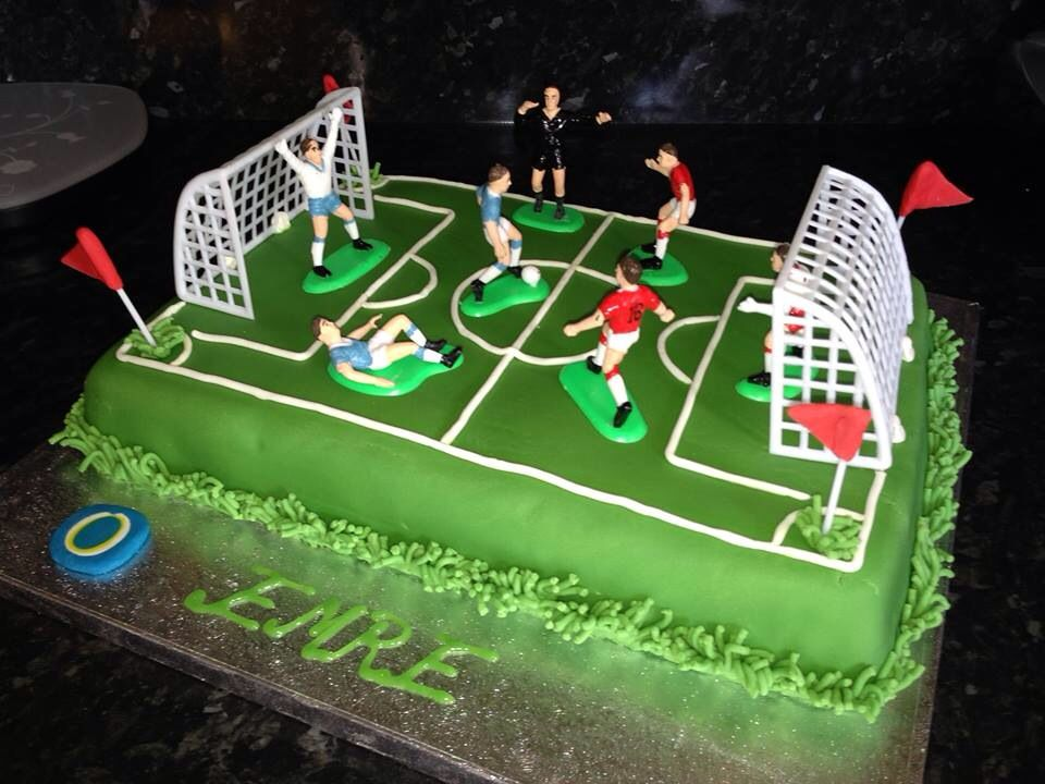 Football Pitch Birtday Cake Design For Kids By Bilge Avci