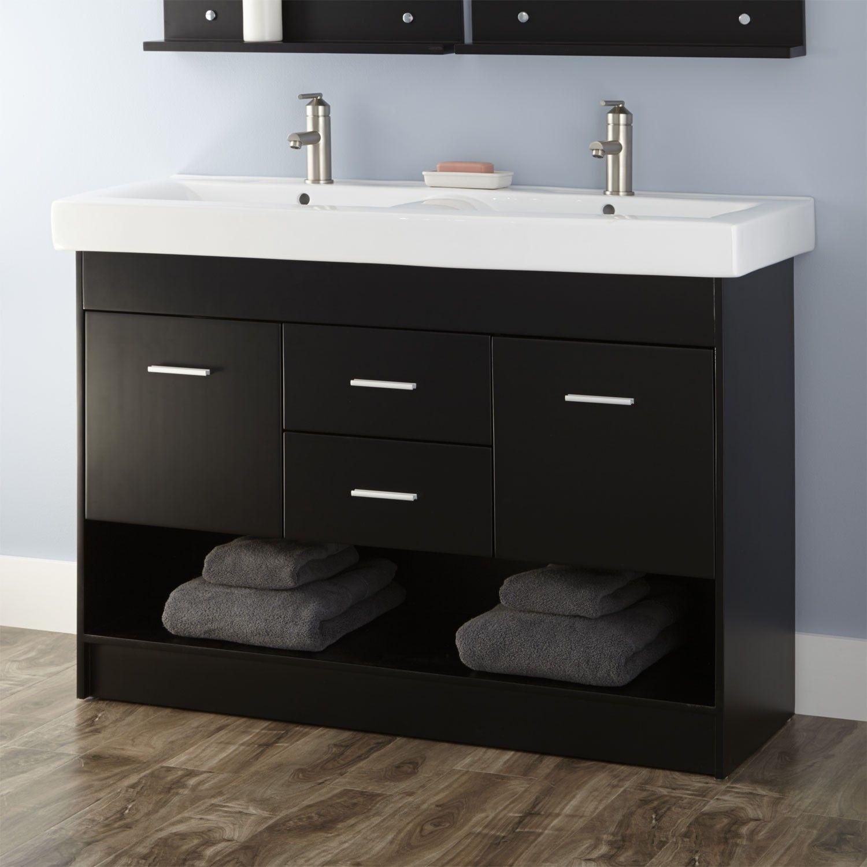 48 Amos Double Sink Vanity Cabinet Bathroom Vanities Bathroom Double Sink Vanity Double Sink Bathroom Vanity Vanity Cabinet