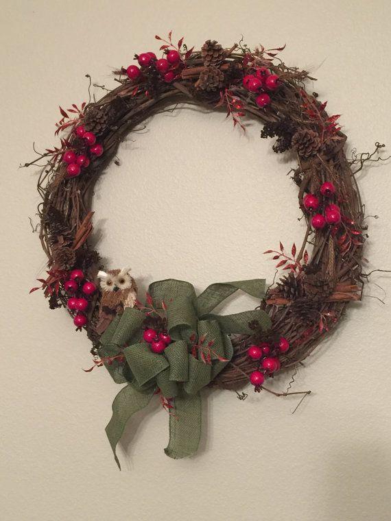 Holiday Wreath by NaturesSignatureShop on Etsy