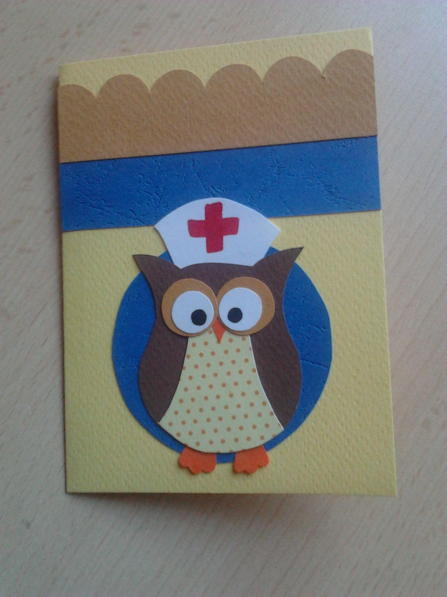 get well soon owl handmade card  cards handmade cards