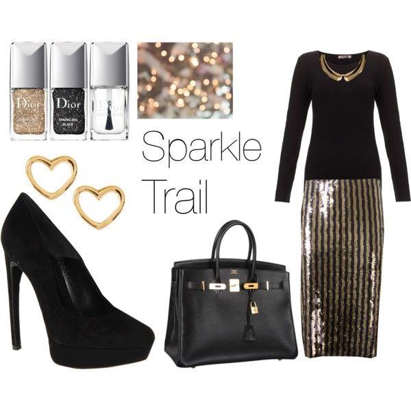 """Sparkle Trail"" by joelleramey on Polyvore"