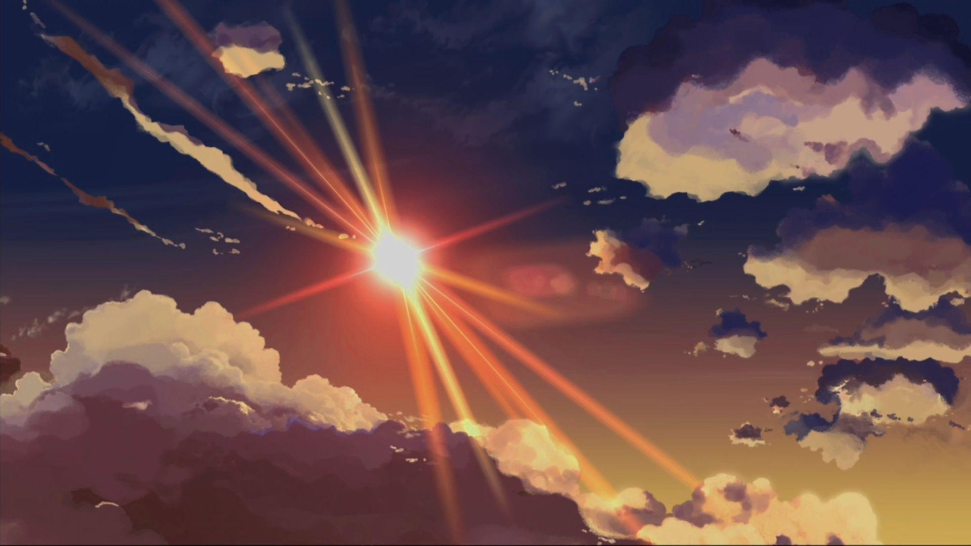 Anime Scenery Wallpaper Langit