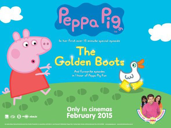 Peppa Pig is set to hit the big screen in 350 cinemas across the nation during February half term