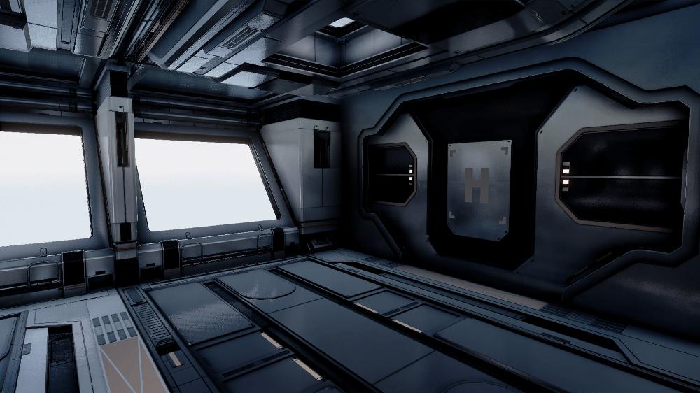 Modular SciFi Interiors by Jonathon Frederick in