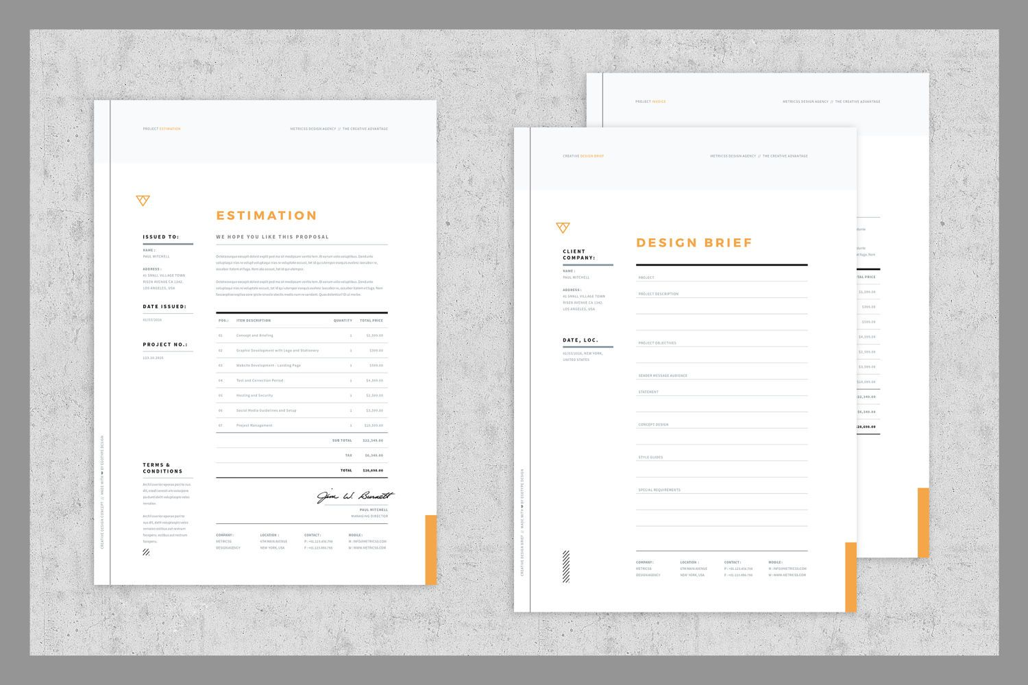 Download Brief - Estimation - Invoice Templates Graphic Templates by