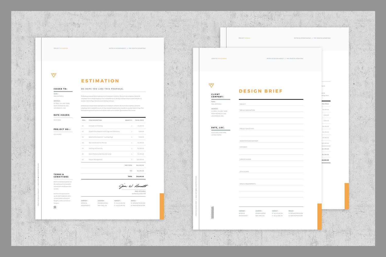 Download Brief  Estimation  Invoice Templates Graphic Templates
