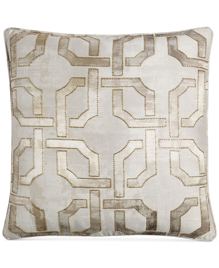 """Hotel Collection Fresco 16"""" Square Decorative Pillow, Created for ..."""