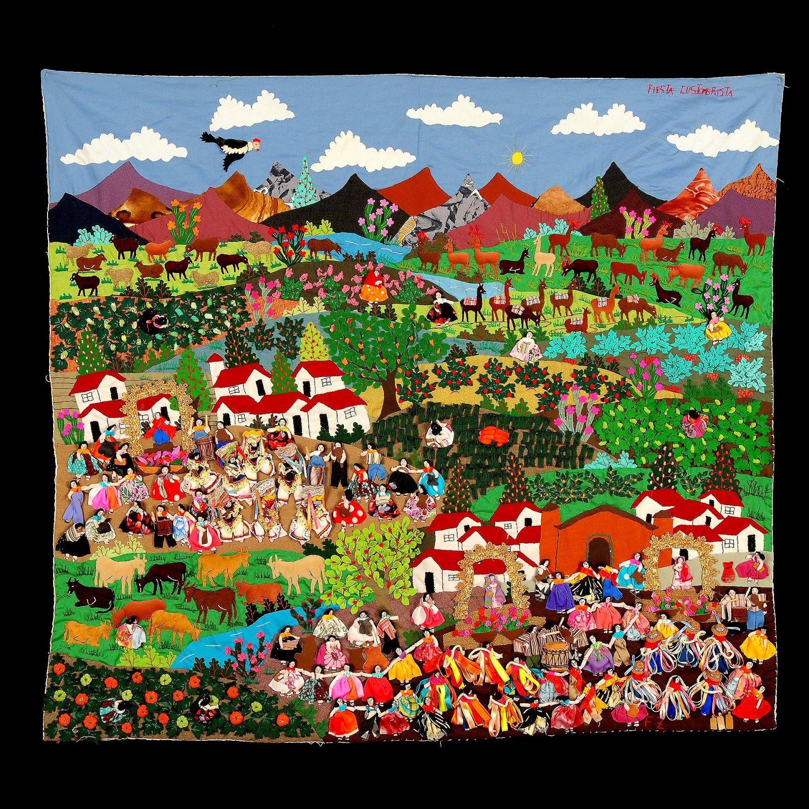 Flora+3.JPG (1600×1600) Peruvian art, Art, Applique art
