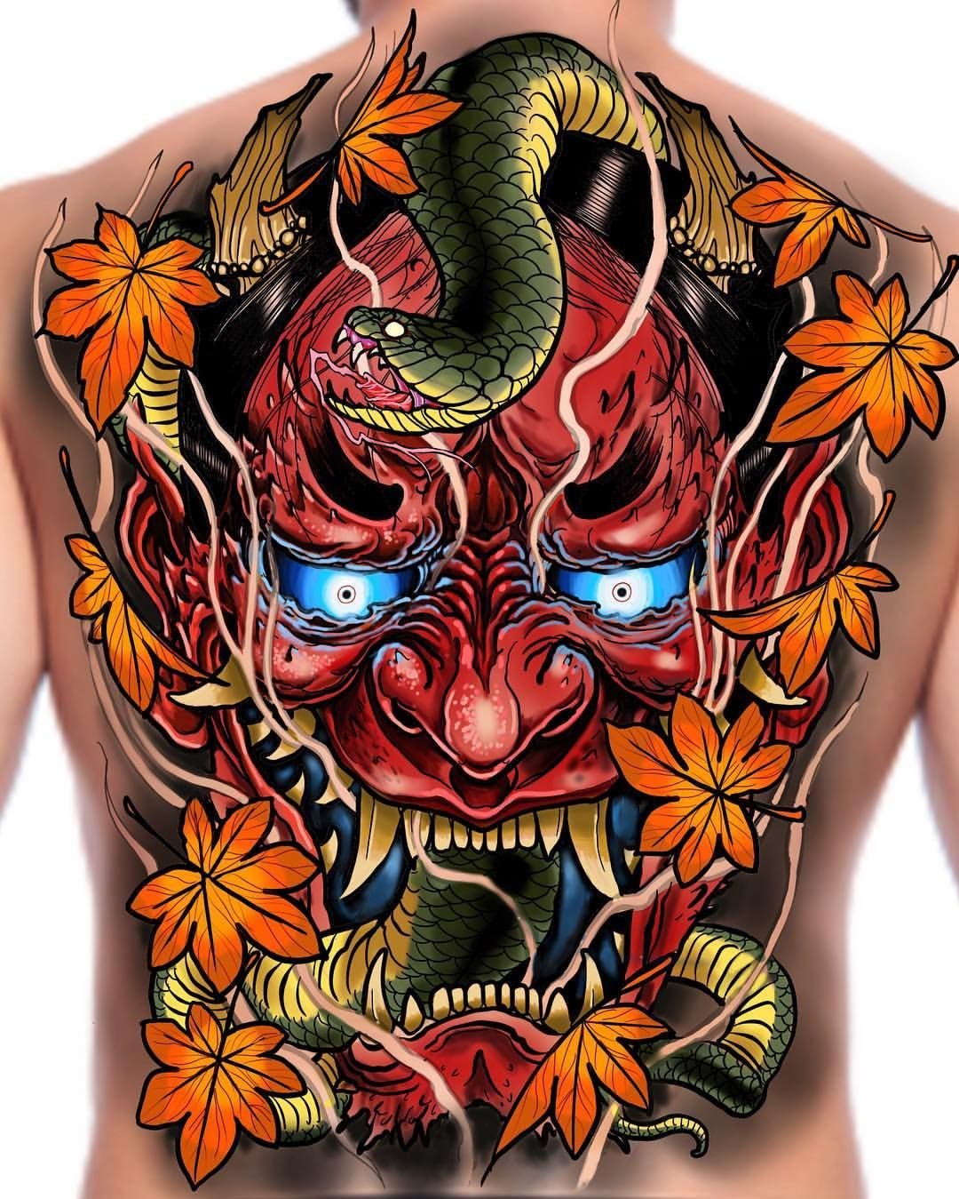 hannya backpiece up for grabs would also work as a front