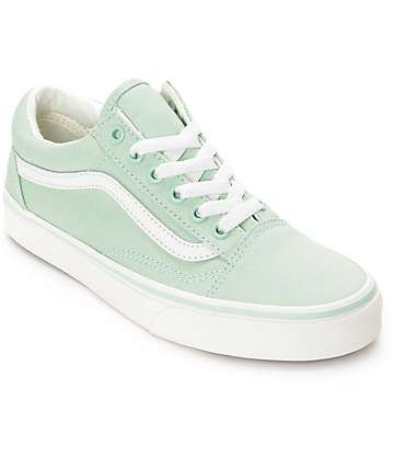 90a828c757 Vans Old Skool Gossamer Green Shoes (Womens)