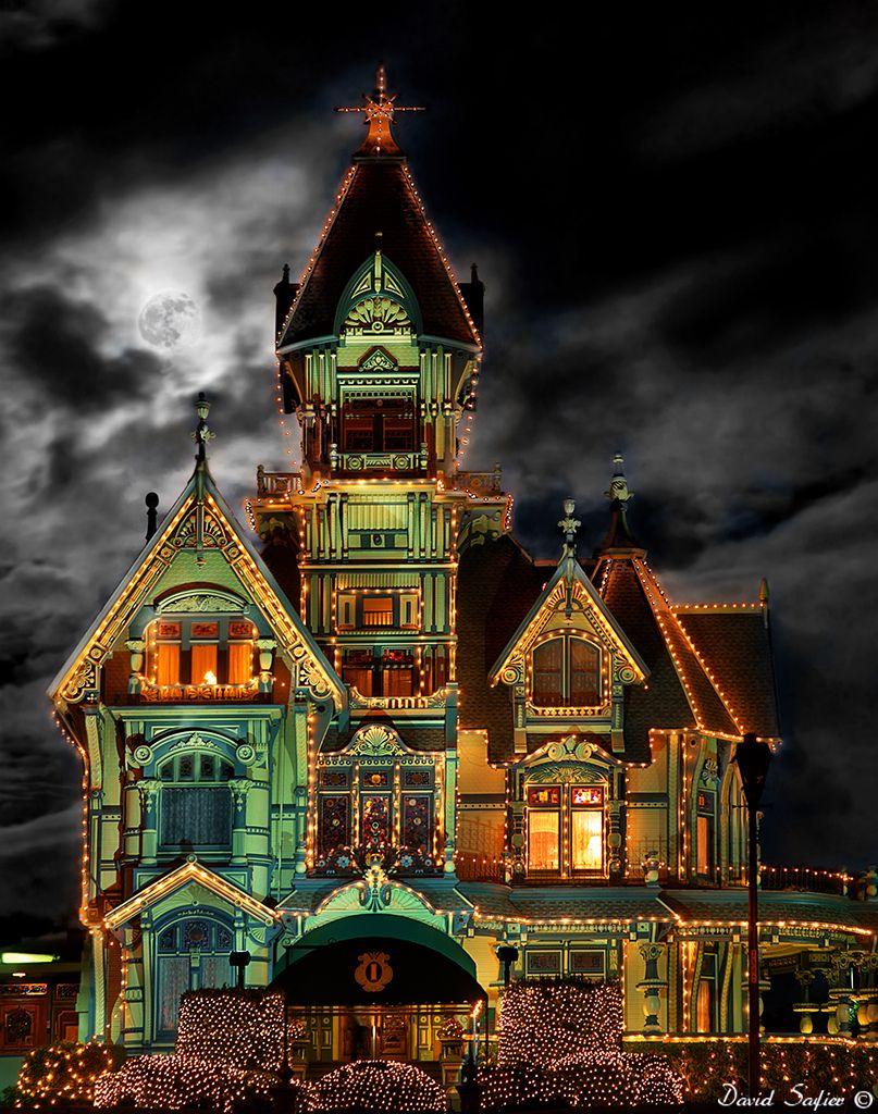 Carson mansion christmas lights, 2010 Carson mansion