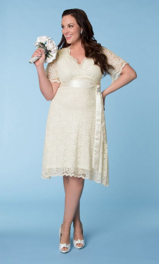 plus size short wedding dress - cold shoulder dresses for wedding ...