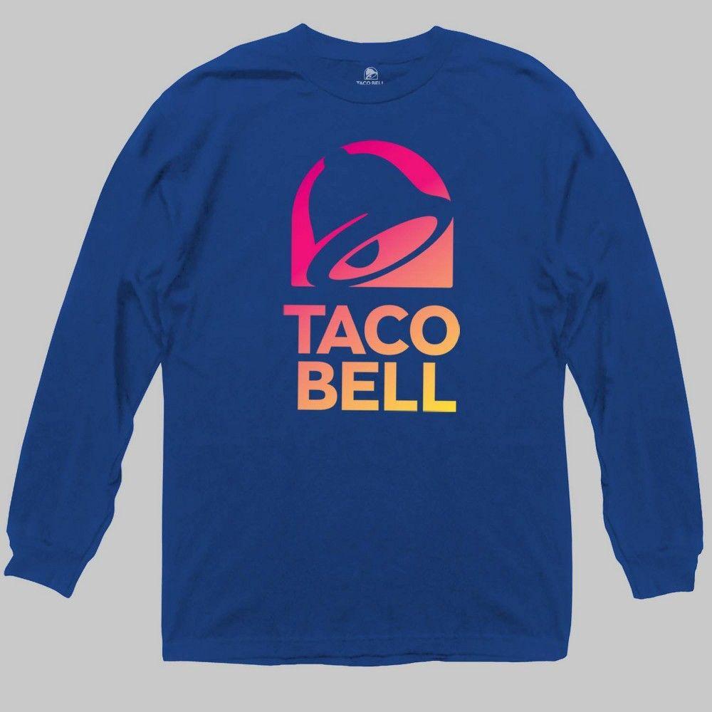 Men's Taco Bell Long Sleeve Graphic TShirt Royal S, Men