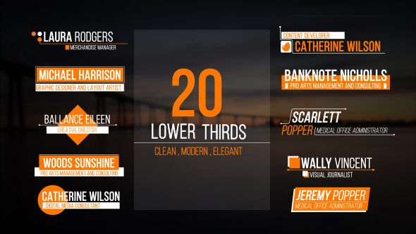 Lower Thirds Corporate Envato Videohive Aftereffects