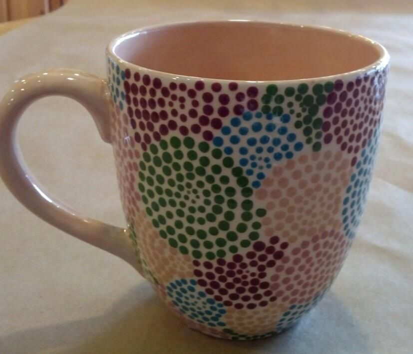Fabulous Dotted Mug Painted At Paintourpeacock