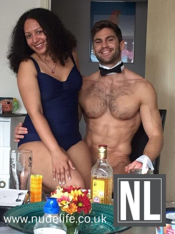 Naked hanging girl