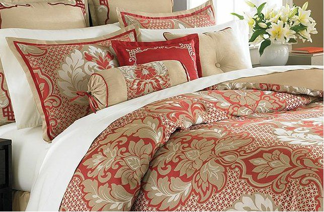 martha stewart quilts and bedspreads | Martha Stewart Collection Bedding Empire Court Queen 9 Piece Comforter ...
