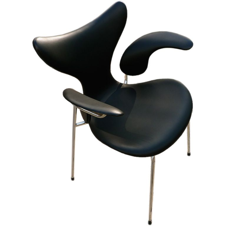 Arne Jacobsen Leather Lily Chair
