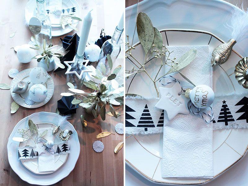 Weihnachtstischdeko mit DIY Platzkarten in Sternform - Ein Beitrag ...