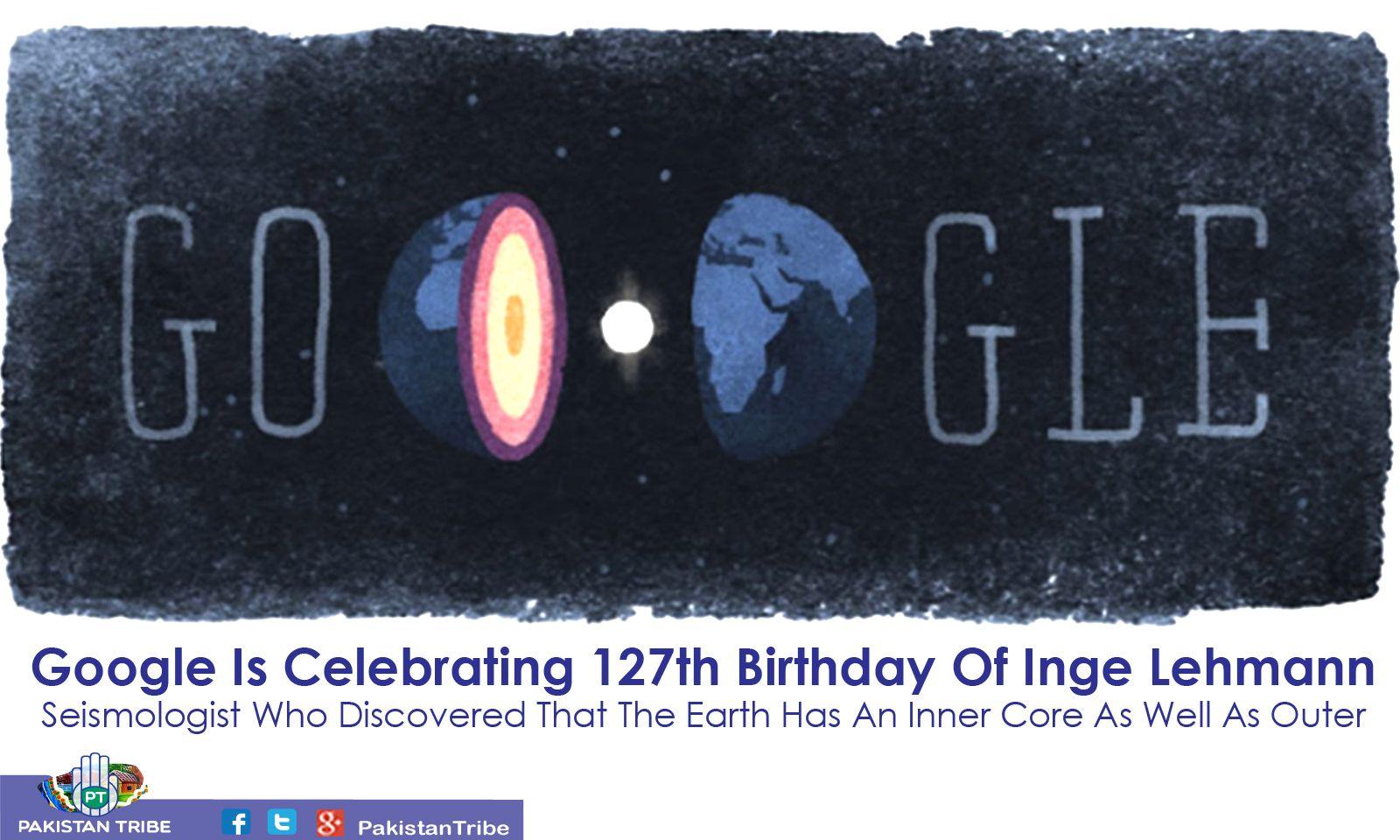 Google Is Celebrating 127th Birthday Of Inge Lehmann