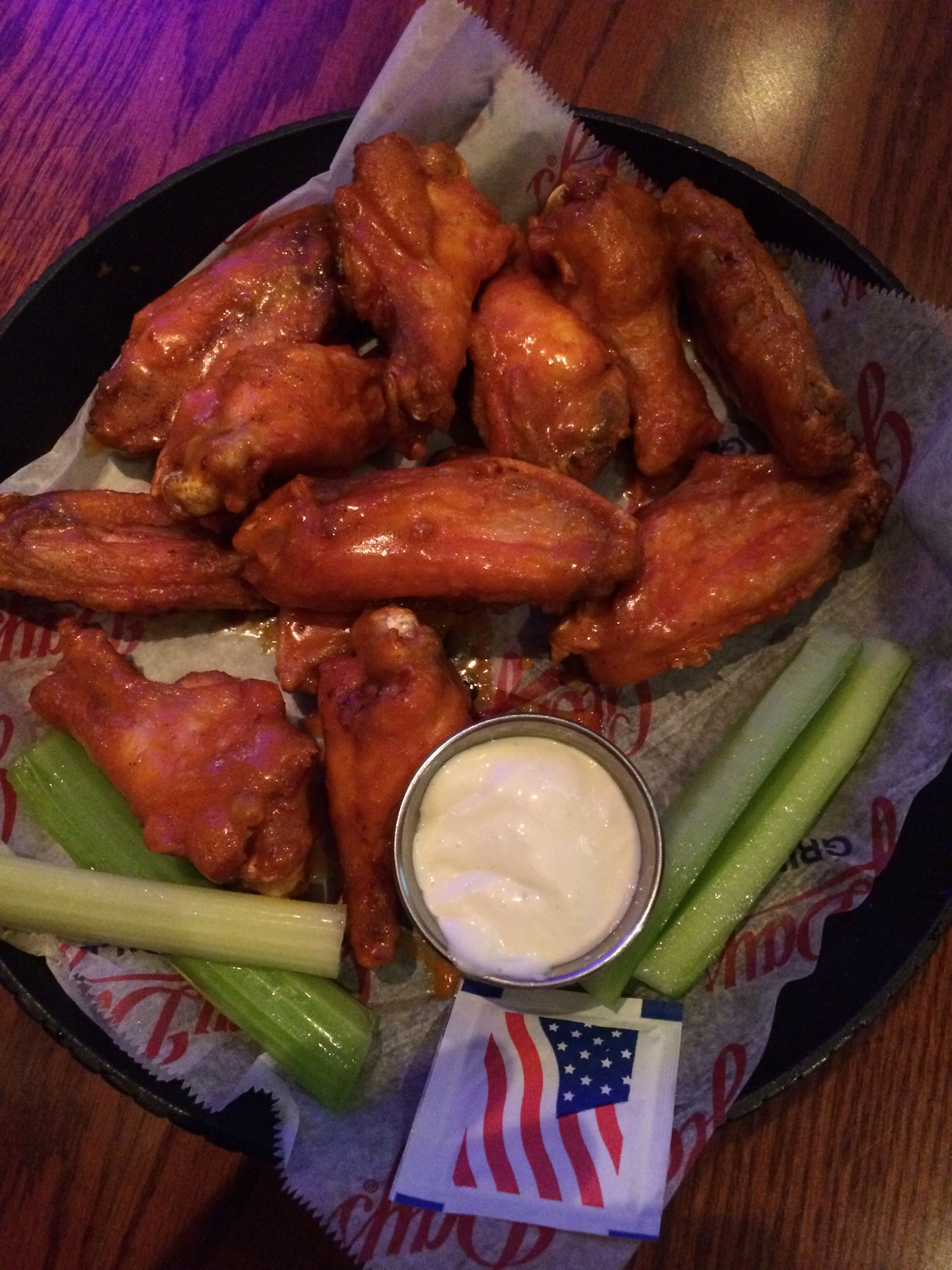 Buffalo Chicken Wings With Celery And Blue Cheese Dressing From Glory Days Eldersburg Md Food Good Food Yummy Food