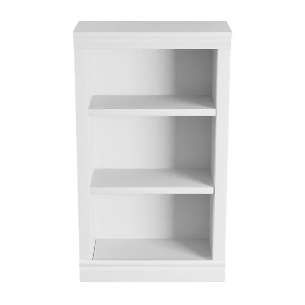 Hampton Bay 42 56 In White Wood 3 Shelf Standard Bookcase With