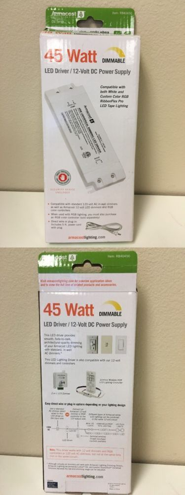 Lighting Parts and Accessories 20705: Armacost Lighting 45-Watt Led Power Supply Dimmable Driver Fade To Dark Dimmer -> BUY IT NOW ONLY: $57.98 on eBay!