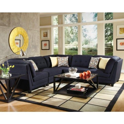 Coaster Keaton Transitional Five Piece Sectional Sofa With Tufting   Coaster  Fine Furniture